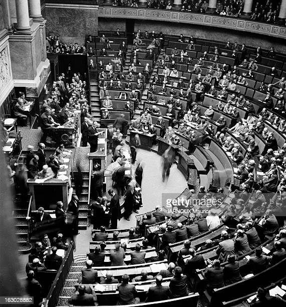October 20Th 1949 Session Of The National Assembly Paris 20 octobre 1949 la Chambre des députés de l'Assemblée nationale lors de l'investiture du...
