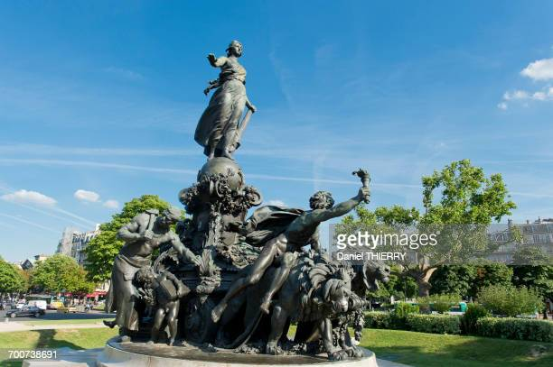 France. Paris 11th district. Place of the Nation. The statue  The triumph of the Republic  by Jules Dalou ( 1899 )