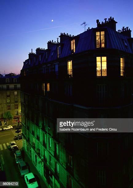 France, Paris, building at dusk