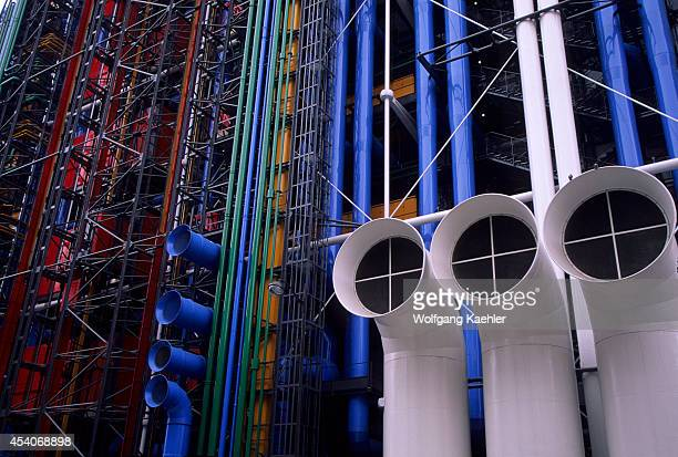 France Paris Centre Pompidou Detail Pipes