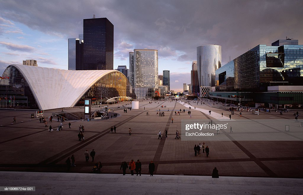 France, Paris, cityscape of La Defence district : Stock Photo
