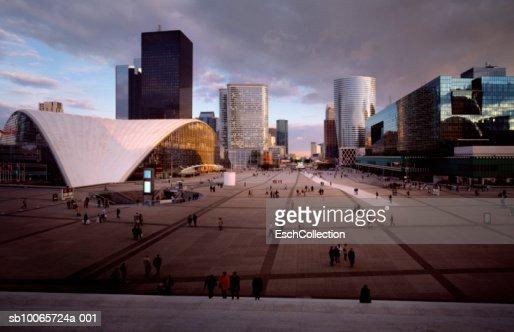 France, Paris, cityscape of La Defence district : Stock Photo