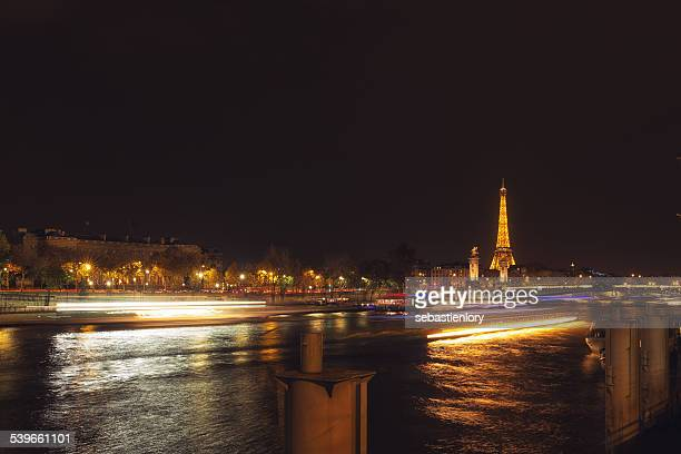 France, Paris, Eiffel Tower at night