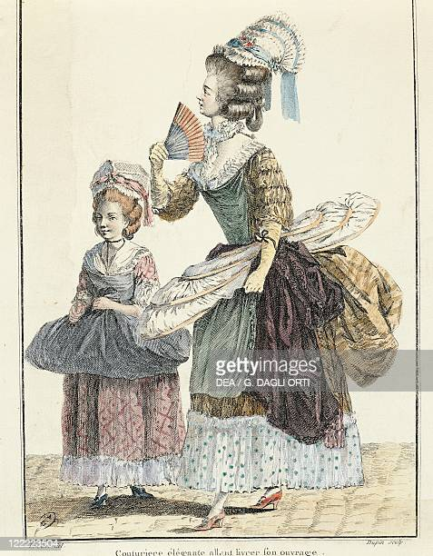 France Paris Fashionable clothes print by Leclerc and Dupin 1778