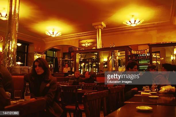France Paris Interior Of Cafe De Flore