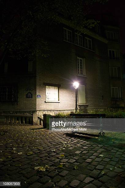 France, Paris, Montmartre, Place Dalida at night