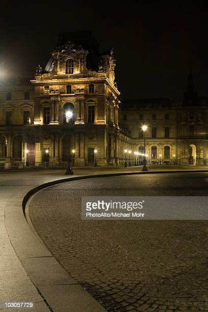 France, Paris, The Louvre at night