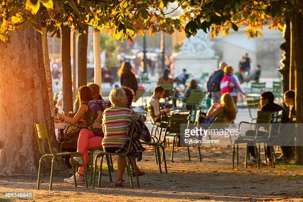 France, Paris, Tuileries garden, people relaxing