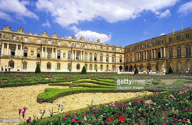 France Paris Versailles View Of Palaces Garden In Courtyard