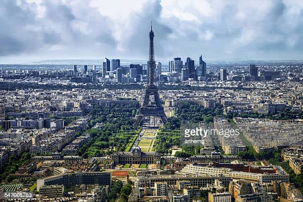 France, Paris, View of Eiffel Tower and city