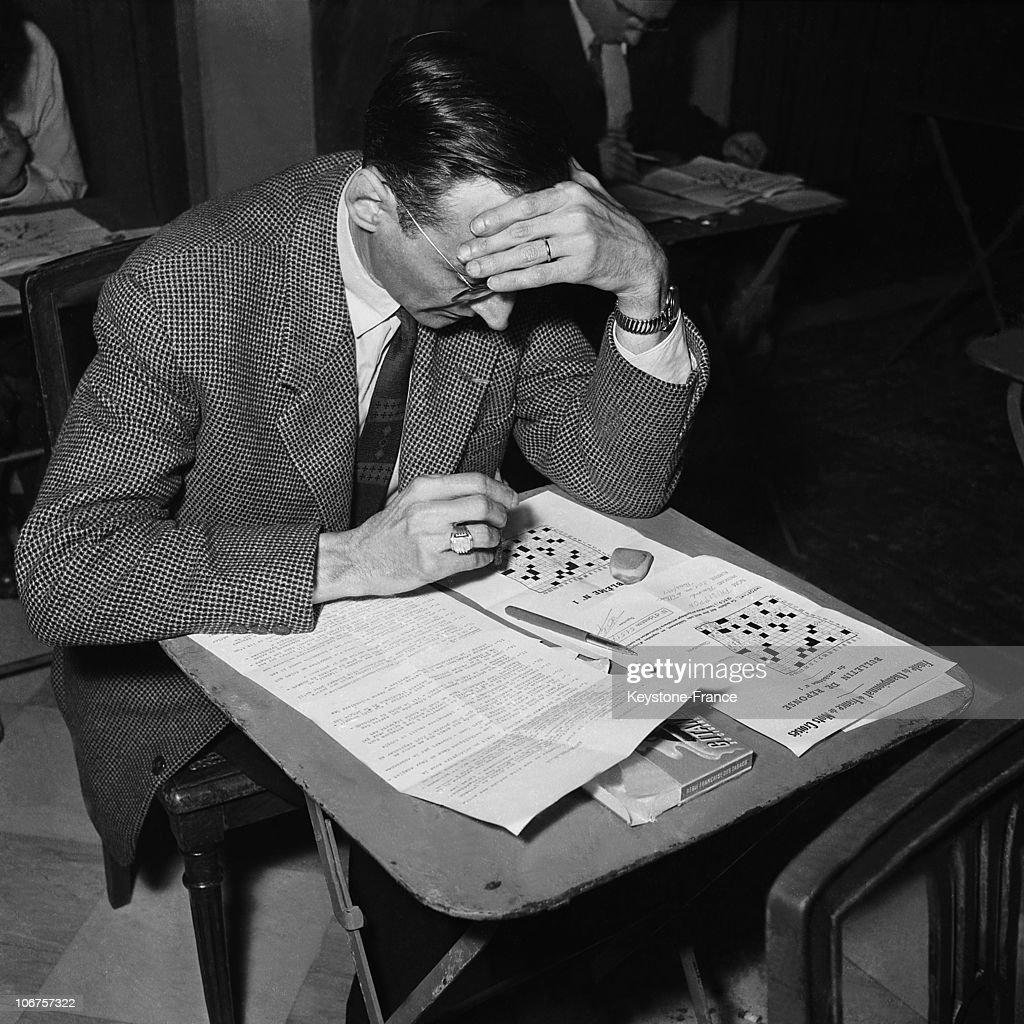 France, Paris,Crosswords Contest In 1956