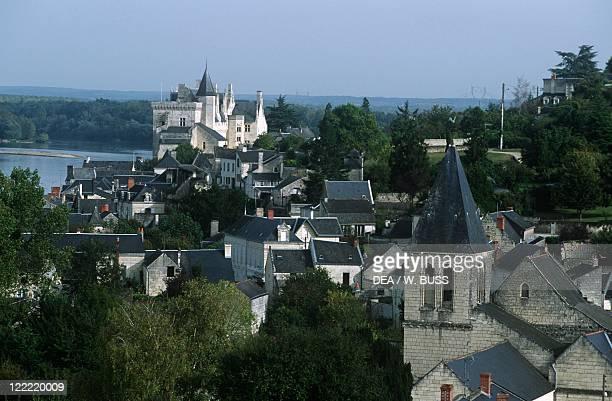 France PaysdelaLoire MaineetLoire The Loire Valley between SullysurLoire and Chalonnes Montsoreau Castle 15th century and Loire River