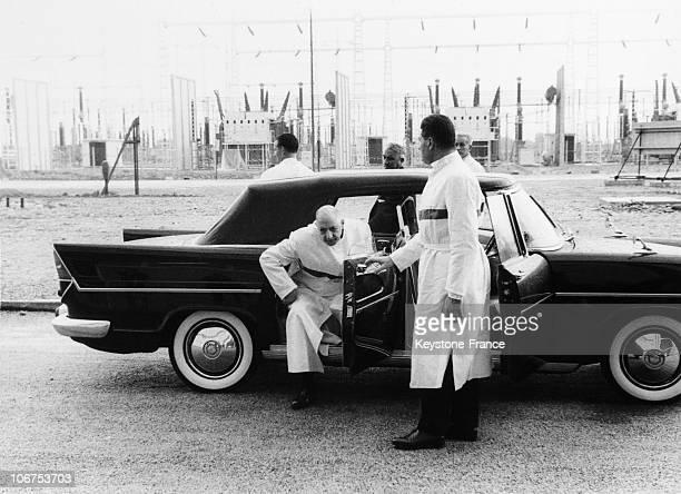 France Pierrelatte General De Gaulle Visit To The Nuclear Centre In 1969