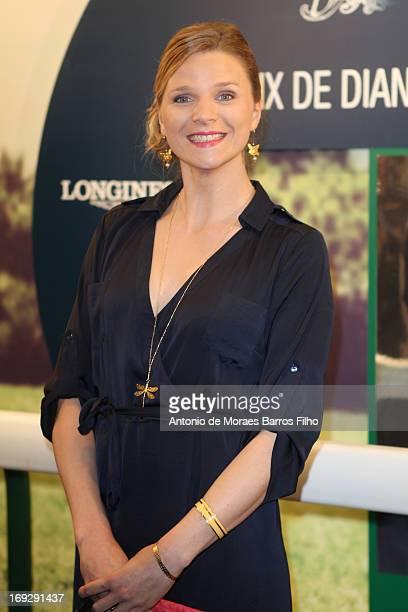France Pierron attends the 2013 Prix de Diane Longines cocktail launch party at Pavillon Gabriel on May 22 2013 in Paris France