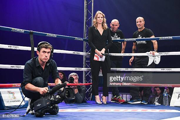 France Pierron journalist during boxing Gala de Cergy on October 8 2016 in CergyPontoise France