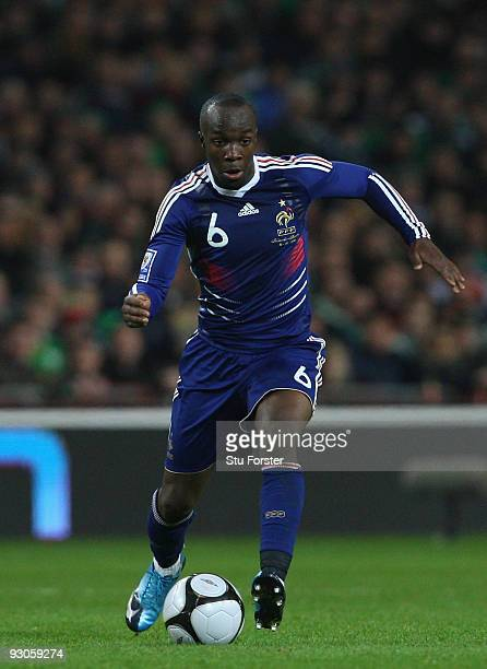 France player Lassana Diarra in action during the FIFA 2010 World Cup Qualifier play off first leg between Republic of Ireland and France at Croke...