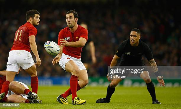 France player Morgan Parra in action during the 2015 Rugby World Cup Quarter Final match between New Zealand and France at Millennium Stadium on...