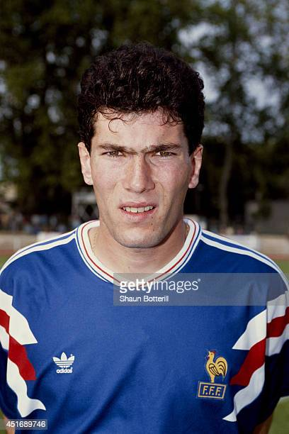 France player Zinedine Zidane poses for a picture before an Under21 International match between France and Scotland on May 30 1991 in Toulon France