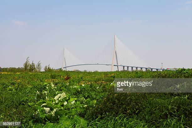 France, 'Pont de Normandie' at Seine River