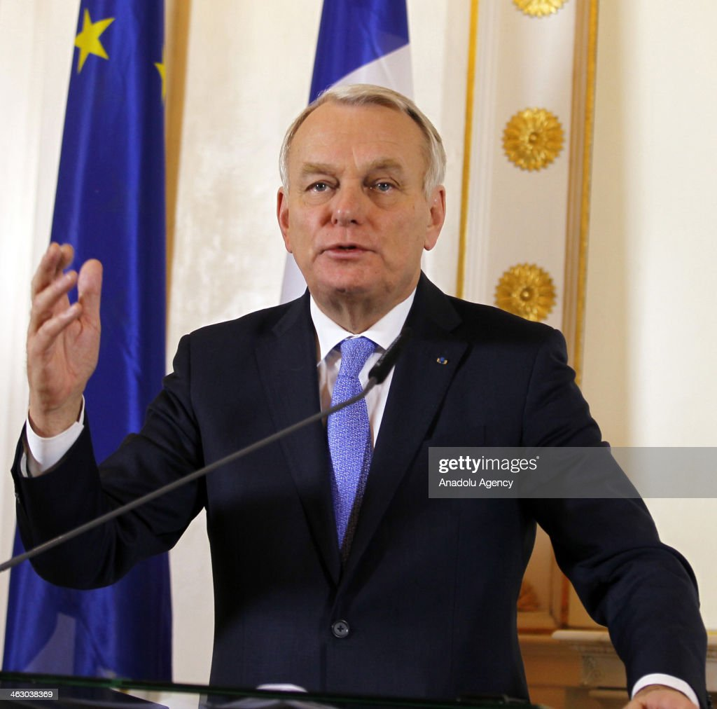 France Prime Minister Jean-Marc Ayrault speaks during a press conference in Wien, Austria on January 16, 2014.