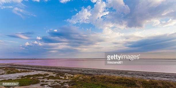 France, Provence, Camargue, Salin-de-Giraud, view to salina