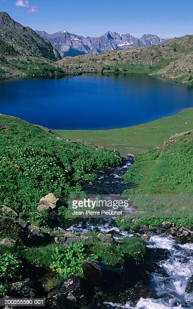 France, Provence-Alpes-Cote d'Azur, lake in Mercantour National Park