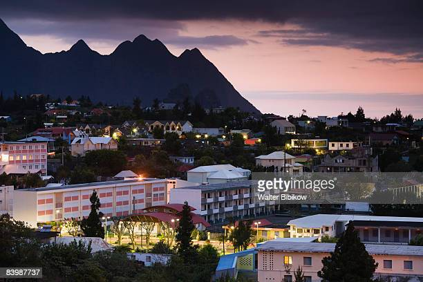 France, Reunion Island, Cilaos town view