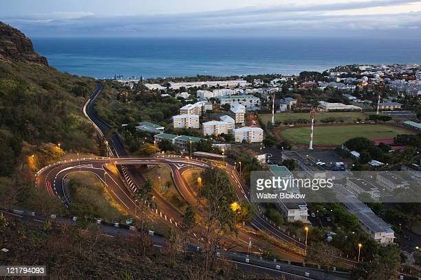 France, Reunion Island, St-Denis, La Montaigne mountain road at dawn