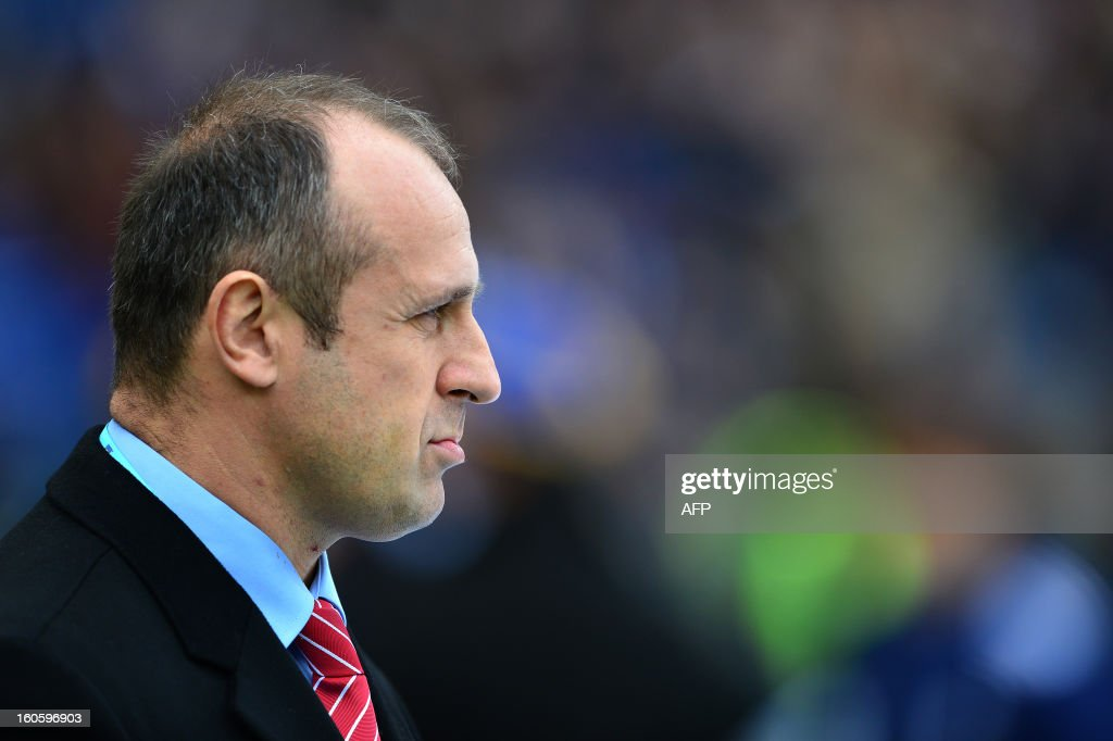 France Rugby Union team's head coach Philippe Saint-Andre looks on prior the Six Nations International Rugby Union match between Italy and France at the Olympic Stadium in Rome on February 3, 2013.