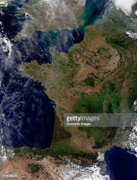 'France, satellite image'
