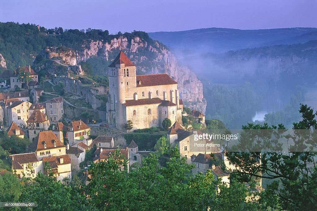 France -St Cirq Lapopie, Lot Valley, Lot, France
