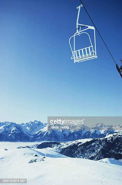 France, St. Francois-Longchamps, chair lift over mountain side