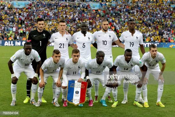 France team group Hugo Lloris Laurent Koscielny Mamadou Sakho Karim Benzema Paul Pogba Moussa Sissoko Lucas Digne Antoine Griezmann Bacary Sagna...