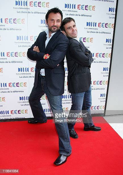 France Televisions Press Conference In Paris France On August 28 2008 Frederic Lopez and David Pujadas