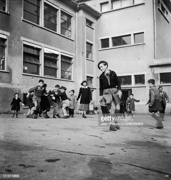 France The Family Life Of A Salaried EmployeeHis Son At School