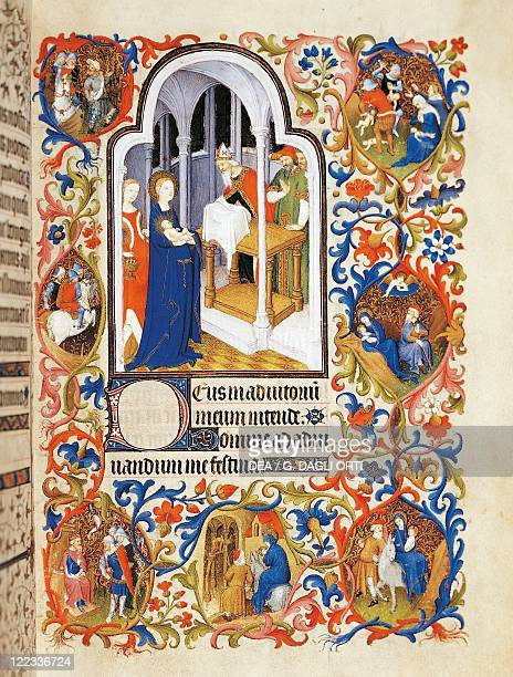 France The purification miniature from the manuscript Breviary 469 141015