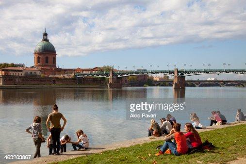 France, Toulouse, Garonne river