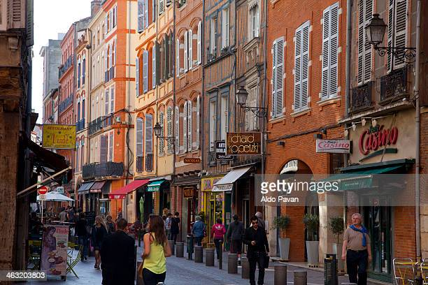France, Toulouse, street in the old town