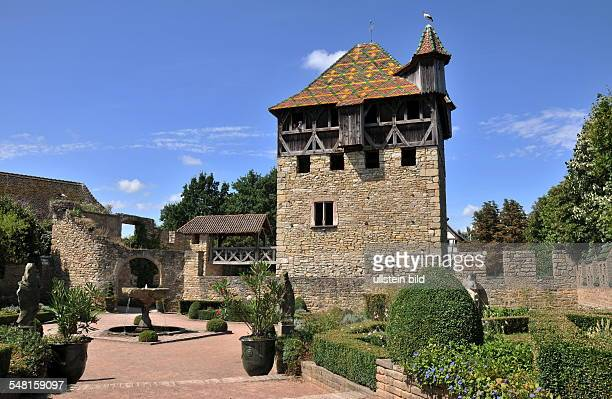 Historical house from the city of Mulhouse in the openair museum Ècomusee d'Alsac