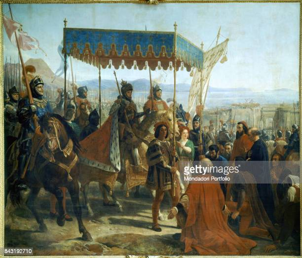 France Versailles Palace of Versailles Whole artwork view French King Charles VIII entering Naples on 2nd May 1495