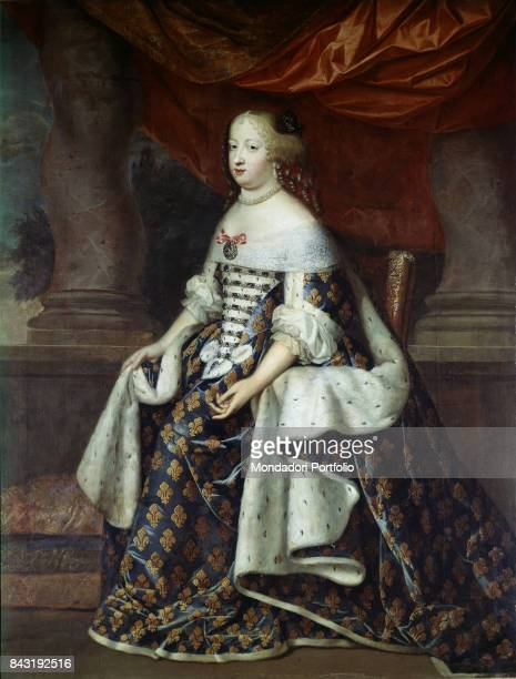 France Versailles Palace of Versailles Whole artwork view Portrait of Maria Theresa of Habsburg the wife of the King Louis XIV of France