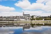 France, View of Jacques Gabriel bridge and Saint Louis cathedral