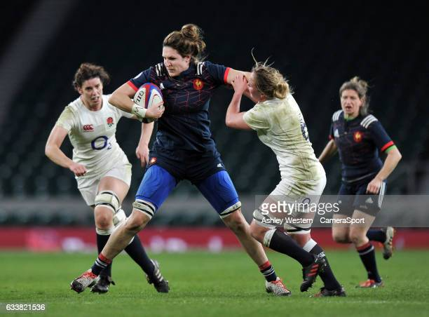France Womens Lenaig Corson during the Women's Six Nations match between England Women and France Women at Twickenham Stadium on February 4 2017 in...