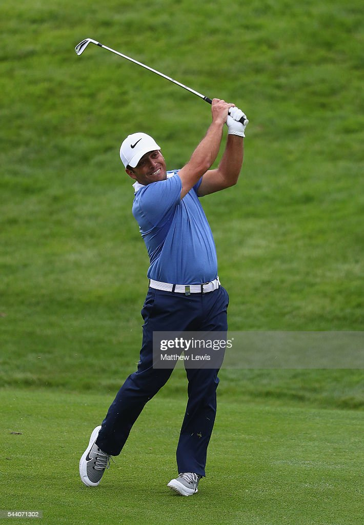 Francencesco Molinari of Italy plays a shot from the fairway during day two of the 100th Open de France at Le Golf National on July 1, 2016 in Paris, France.