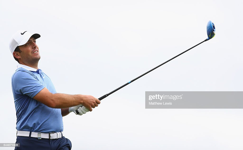 Francencesco Molinari of Italy tees off during day two of the 100th Open de France at Le Golf National on July 1, 2016 in Paris, France.