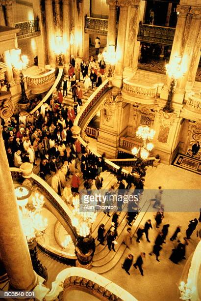 France,Paris,Opera de Paris,people in foyer, elevated (Enhancement)