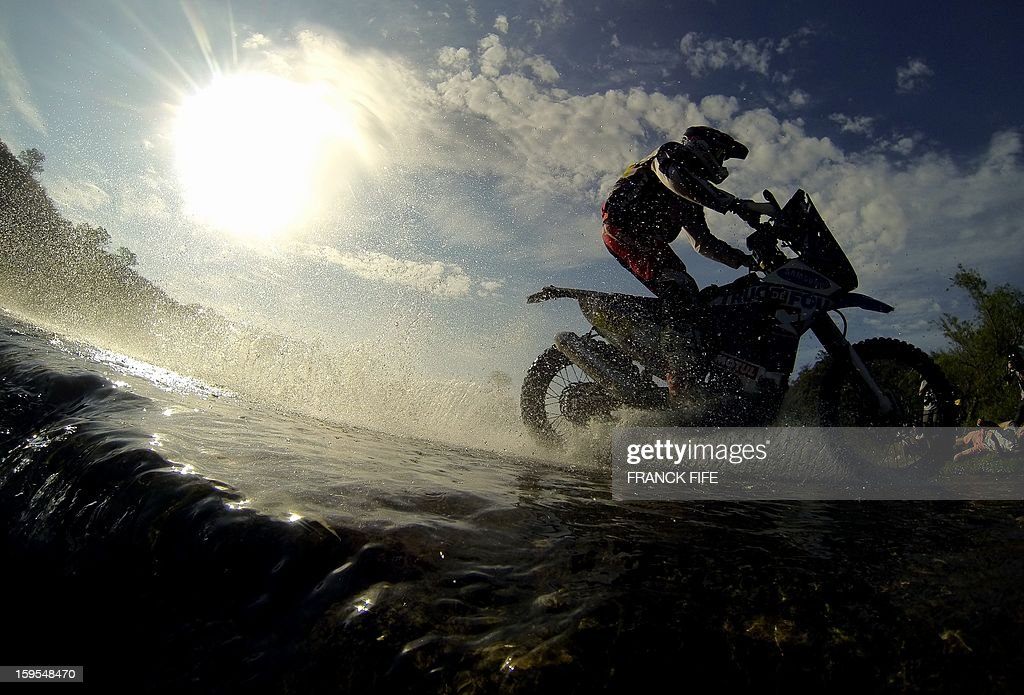 France's Alain Duclos rides his Sherco during the Stage 10 of the Dakar 2013 between Cordoba and La Rioja, Argentina, on January 15, 2013. The rally takes place in Peru, Argentina and Chile between January 5 and 20.