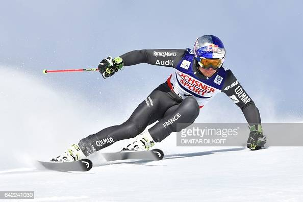 TOPSHOT France's Alexis Pinturault competes in the first run of the men's giant slalom race at the 2017 FIS Alpine World Ski Championships in St...
