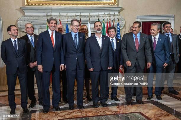 France's ambassador to Syria Eric Chevallier Egyptian Foreign Minister Mohammed Kamel Amr US Secretary of States John Kerry Italian Foreign Minister...