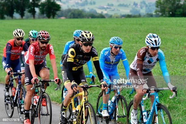 France's Axel Domont Spain's Angel Madrazo France's Romain Sicard Spain's Delio Fernandez Belgium's Thomas De Gendt Germany's Silvio Herklotz and...